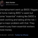 Black Twitter Memes tweets, EMT, UBI, Essential, USA, PTO  May 2020