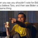 Political Memes Political, Trump, MAGA, DNC, Reddit, Bloomberg text: When you say you shouldn