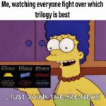 Star Wars Memes Sequel-memes, Skywalker, TLJ, Jedi, Disney, Solo text: Me, watching everyone fight over which EPISODE EPISODE 11 trilogy is best EPISODE Ill •.iVGSr-ö