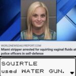 other memes Dank, RepostSleuthBot, Visit, Searched Images, Search Time, Positive text: WORLDNEWSDAILYREPORT.COM Miami stripper arrested for squirting vaginal fluids at police officers in self-defense SQUIRT LE used AA TER GUN.  Dank, RepostSleuthBot, Visit, Searched Images, Search Time, Positive