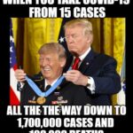 Political Memes Political, COVID, President, No, Biden, American text: WHEN you TAKE COVID-19 FROM 15 CASES ALL TO CASES AND 100,000 DEATHS imgtipcom  Political, COVID, President, No, Biden, American