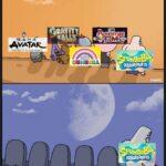 other memes Funny, Gumball, Steven, SpongeBob, Avatar, Regular Show text: SPOngeB0é SUREPANTS Sponge SQUAREPANTS h mematic