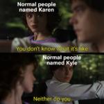 other memes Funny, Karen, Kevin, Chad, DcsCZ, Daniel text: Normal people named Karen You don