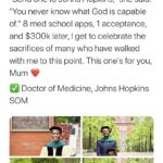 """Wholesome Memes Black, Johnny Hopkins, Doctor text: Seye Oduyale, MD @Seye_Oduyale """"Send one to Johns Hopkins,"""" she said. """"You never know what God is capable of."""" 8 med school apps, 1 acceptance, and $300k later, I get to celebrate the sacrifices of many who have walked with me to this point. This one"""
