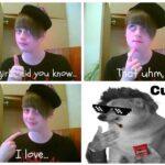 cringe memes Cringe,  text: fey 9jr jd you know... love... T uhm, Cum  Cringe,