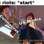 Dank Memes Dank, CNN, Coronavirus, COVID, America, YouTube text: US riots: *start* (Il don