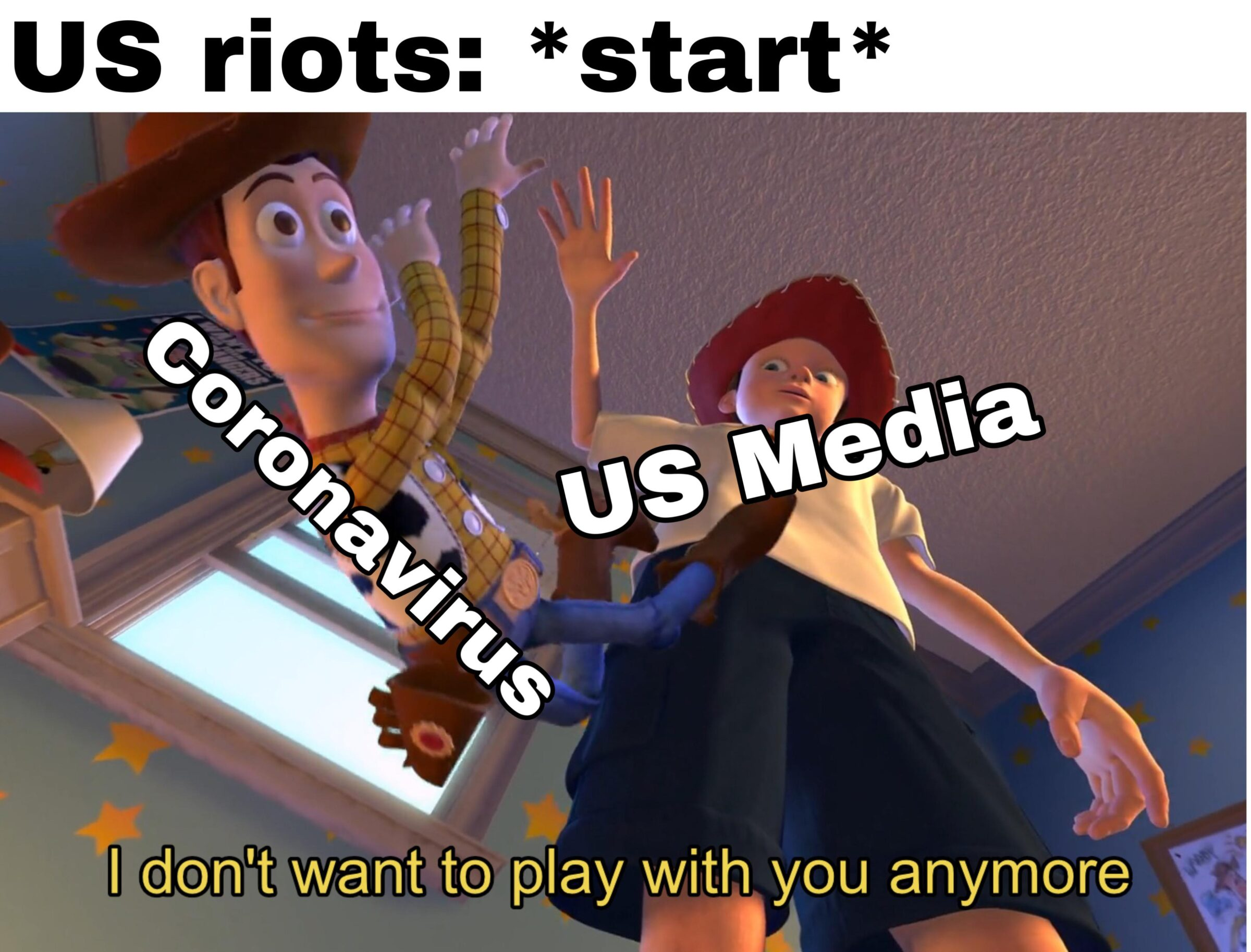Dank, CNN, Coronavirus, COVID, America, YouTube Dank Memes Dank, CNN, Coronavirus, COVID, America, YouTube text: US riots: *start* (Il don't want to play with you anymore