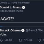 Political Memes Political, Trump, Obama, Biden, Flynn, FISA text: Donald J. Trump Retweeted Donald J. Trump O @realDonaldTrump OBAMAGATE! Barack Obama @BarackOba... Vote. Q 44.6K 176.5K 0 858.4K  Political, Trump, Obama, Biden, Flynn, FISA