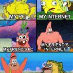Spongebob Memes Spongebob, Visit, Negative, Feedback, False Negative, False text: MY FRIEND