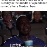 Dank Memes Cute, Mexican, Cinco, Tuesday, Mexico, Mayo text: When Cinco de Mayo falls on Taco Tuesday in the middle of a pandemic named after a Mexican beer [crying] IT