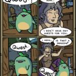 Comics Comics, Quest, No, Catbug, Xenoblade Chronicles, WEST text: Qwest? Qwes*• SWORDS CDI I