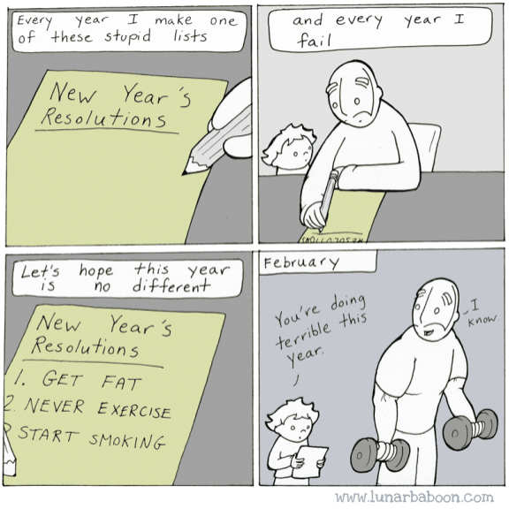 Cute, New Years Wholesome Memes Cute, New Years text: yea,- make one Ever Of + he s c New Year '5 Reso/u Let'S hope *his year no New Y ear 3 Res 0/14+0 n S /. GET NEVER EXERCISE START and every ecol. www.lunarbaboon.com