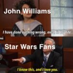 Star Wars Memes Sequel-memes, John Williams, Williams, Star Wars, Leia, Luke text: John Williams: I have done pelling wrong, ev r, in:mylife. Star Wars Fans I know this, and I love you.