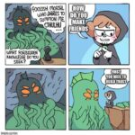 Wholesome Memes Cute, wholesome memes, Thats text: FOOLISH moRTAL WHO DARES TO DO you summoN me (THULHU FRIENDS WHAT FORBIDDEN KNOWLEDGE DO YOU SEEK? rotJNEEOTO  Cute, wholesome memes, Thats