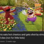 cringe memes Cringe, NWimJ4Yr2, Wario, NYv text: Wario eats hot cheetos and gets shot by elmo and dies (not for little kids) 117 views • 2 weeks ago  Cringe, NWimJ4Yr2, Wario, NYv