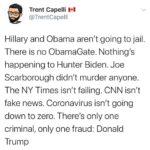 Political Memes Political, Trump, CNN, Obama, Hillary, Fox text: Trent Capelli VI @TrentCapelli Hillary and Obama aren