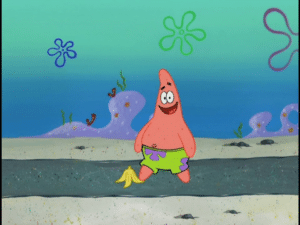 Patrick about to slip on banana Food meme template