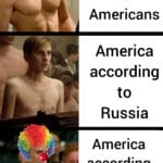 other memes Funny, America, American, Reddit, USA, Russia text: C America according to Americans America according to Russia America according to everyone else  Funny, America, American, Reddit, USA, Russia