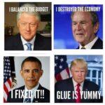 Political Memes Political, Clinton, Obama, Bush, Republicans, Congress text: GLUE ı UMMY  Political, Clinton, Obama, Bush, Republicans, Congress