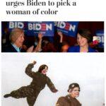 Political Memes Political, VP, Warren, Biden, Native American, Amy text:  Political, VP, Warren, Biden, Native American, Amy