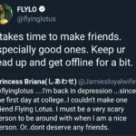 Wholesome Memes Black, Flying Lotus text: FLYLO e @flyinglotus It takes time to make friends. Especially good ones. Keep ur head up and get offline for a bit. Princess Briana( l.-Æt)€) @JamiesloyaIwife @flyinglotus ....l