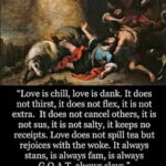 "Christian Memes Christian, GOAT text: ""Love is chill, love is dank. It does not thirst, it does not flex, it is not extra. It does not cancel others, it is not sus, it is not salty, it keeps no receipts. Love does not spill tea but rejoices with the woke. It always stans, is always fam, is always G.O.A.T, always slays."" St. Paul the Apostle to the Corinthians (1 Cor 13:4-7)  Christian, GOAT"