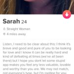 Wholesome Memes Black, Wholesome text: Sarah 24 8 Straight Woman @ 4 miles away Listen, I need to be clear about this: I think it