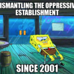 Spongebob Memes Spongebob, Squidward text: LOOZIONIS INIWHSI18US3 IRISS3Udd0 3111 9NI1iNWWSIO  Spongebob, Squidward