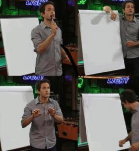 Dennis giving presentation Opinion meme template