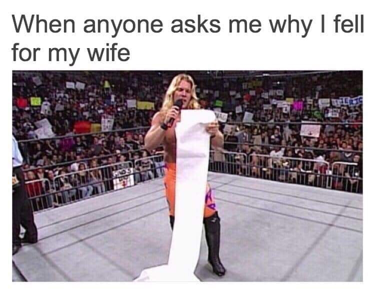 Wholesome memes, Jericho, CVS, Reason, RMBAR, ARMBAR Wholesome Memes Wholesome memes, Jericho, CVS, Reason, RMBAR, ARMBAR text: When anyone asks me why I fell for my wife