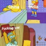 Dank Memes Dank, India, China, Kashmir, Pakistan, Chinese text: •ping•— ik t0ks ratirig dia On Fucking war thìna  Dank, India, China, Kashmir, Pakistan, Chinese