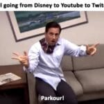 other memes Dank, Visit, OC, Negative, JPEG, Feedback text: Jake Paul going from Disney to Youtube to Twitch to jail Parkour!  Dank, Visit, OC, Negative, JPEG, Feedback