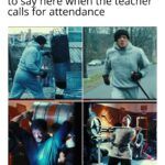 other memes Funny, STUTTER, Rocky, Present, Hello text: how antisocial people prepare to say here when the teacher calls for attendance  Funny, STUTTER, Rocky, Present, Hello