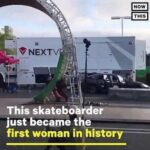History Memes History,  text: NOW THIS 9 NEXTV This skateboarder just became the first woman in histor  History,