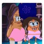 Spongebob Memes Spongebob, Ariana Grande, Gaga, Snookie, Patricia, MY EYES text: Half of y
