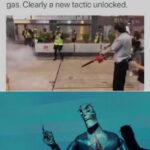 other memes Dank, Hong Kong, Chinese, China text: First time ever #HongKongProtesters have used a leaf blower to tackle tear gas. Clearly a new tactic unlocked. Upgraßqs, pepple,lupgråde  Dank, Hong Kong, Chinese, China