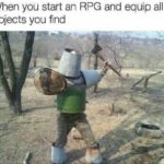 other memes Funny, RPG, Skyrim, Zelda, Solaire text: When you start an RPG and equip a objects you find