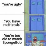 "Spongebob Memes Spongebob, Idc text: ""You"