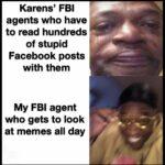 other memes Funny, NSA, Karen, Shrek, Kyle, JoJo text: Karens