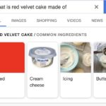 cringe memes Cringe, PORTMANTEAU-BOT text: what is red velvet cake made of ALL IMAGES SHOPPING VIDEOS RED VELVET CAKE / COMMON INGREDIENTS Red NEWS Buttermilk Cream cheese Icing  Cringe, PORTMANTEAU-BOT