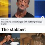 other memes Funny, Zabuza, Mike, Florida, This Is Patrick, DIO text: 6ABC.COM Man with no arms charged with stabbing Chicago tourist The stabber:  Funny, Zabuza, Mike, Florida, This Is Patrick, DIO