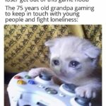 other memes Funny, Tetris, Xbox, COD, Widow, Siege text: Everyone in the chat: ew you suck loser get out of this game noob The 75 years old grandpa gaming to keep in touch with young people and fight loneliness:  Funny, Tetris, Xbox, COD, Widow, Siege