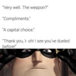 """Wholesome Memes Wholesome memes, Statement, Canadians text: """"1 challenge you to a duel!"""" """"Very well. The weapon?"""""""