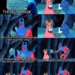 "Spongebob Memes Spongebob,  text: THIS IS RMASK AND IT STOPS-YOU FROM BREATHING INTHE ""CHINA"" VIRUS YUP YUP SO YOU WON"