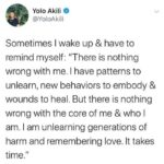 Wholesome Memes Black,  text: Yolo Akili @YoloAkili Sometimes I wake up & have to remind myself: