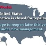 Political Memes Political, Trump, Senate, Republicans, January text: The United States of America is closed for repairs. We hope to reopen later this year