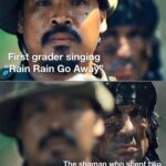 other memes Funny, Rain, God, California text: Fir grader singi g ""