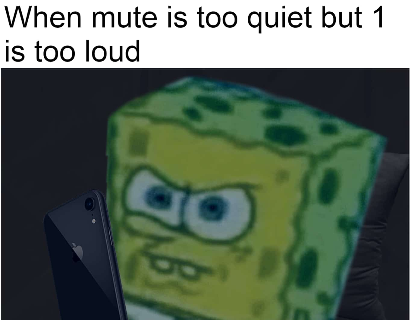 Funny, Phone, Samsung, Mac, Android, TV other memes Funny, Phone, Samsung, Mac, Android, TV text: When mute is too quiet but 1 is too loud