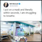 Spongebob Memes Spongebob, CaNt BreaThE HeLp text: o Bill Mitchell @mitchellvii I put on a mask and literally within seconds, I am struggling to breathe.  Spongebob, CaNt BreaThE HeLp