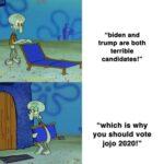 Political Memes Political, JoJo text: